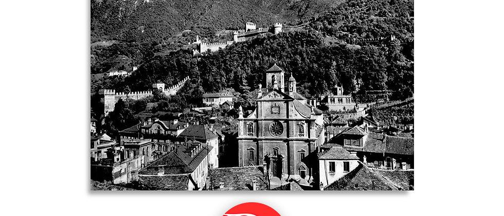 Bellinzona Collegiata e castelli Svitto e Unterwaldo anni '30
