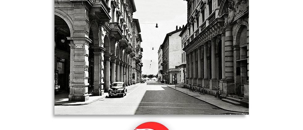 Lugano via della Posta anno 1945 c.a.