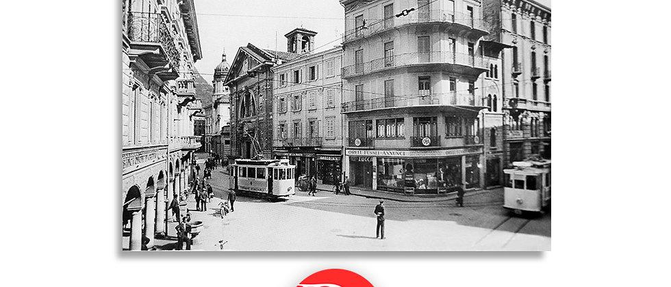 Lugano piazza Dante anno 1930 c.a.