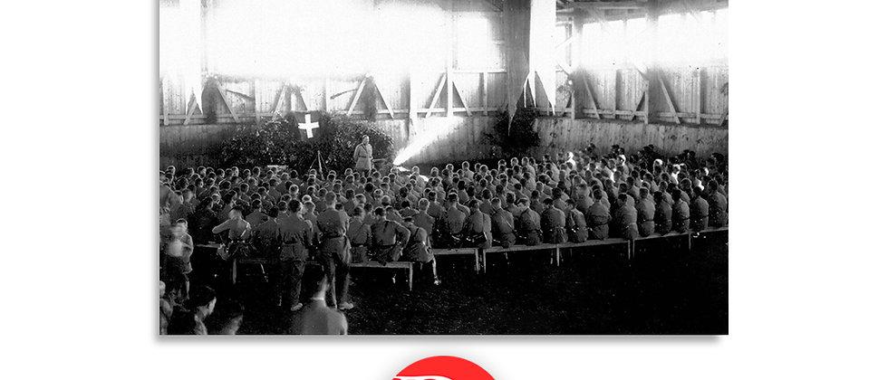 Soldati in raccolta, riunione di fanteria anno 1928 c.a.