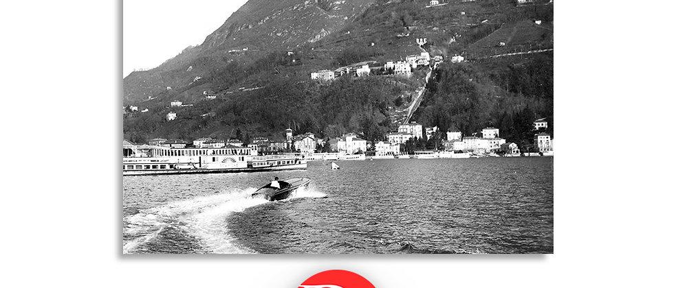 Lugano Cassarate e monte Brè anno 1940 c.a.