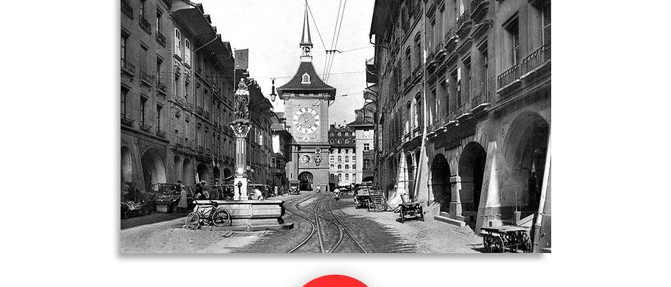 Berna, la torre dell'orologio anno 1930 c.a.