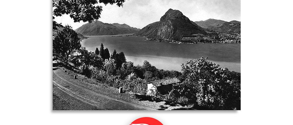 Lugano e monte S.Salvatore anno 1930 c.a.