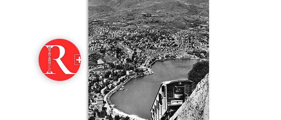 Lugano funicolare S.Salvatore anno 1940 c.a.