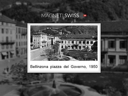 Bellinzona piazza del Governo, 1950