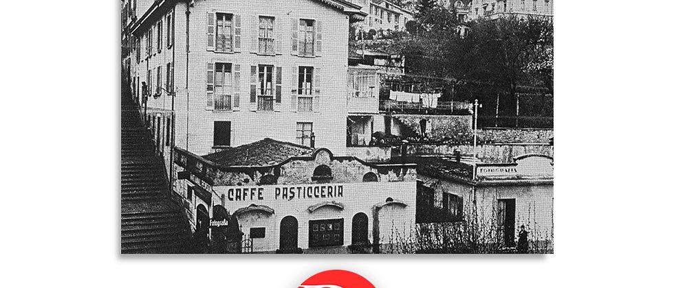 Lugano la scalinata di via Nuova primi '900