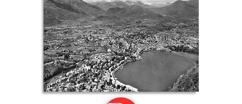 Lugano panorama dal monte S.Salvatore anno 1950 c.a.