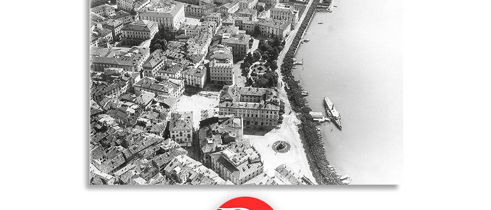 Lugano veduta aerea lungolago primi '900