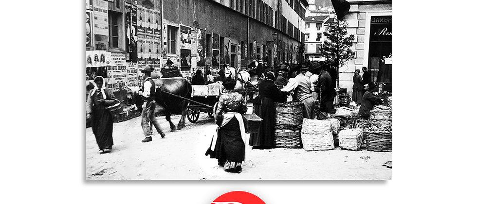 Lugano via Peri e mercato fine '800