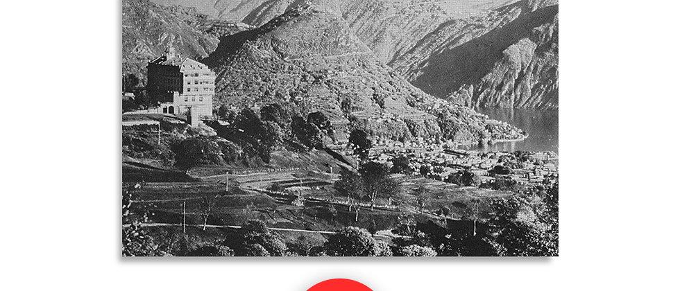 Il monte Brè vista da Cademario primi '900