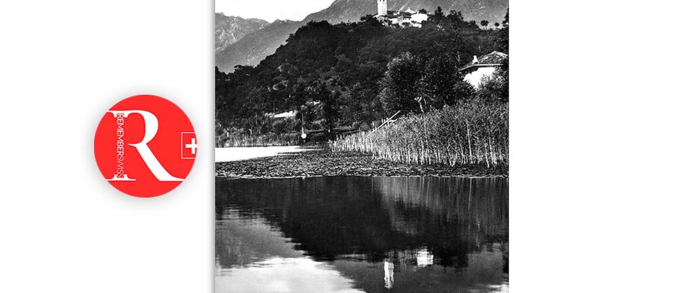 Soregno sul lago di Muzzano anno 1950 c.a.