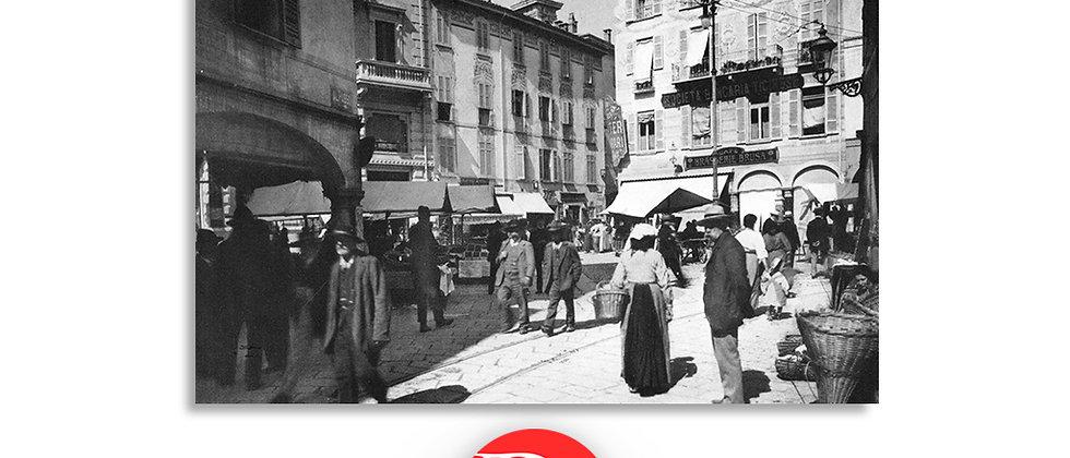 Lugano il mercato di piazza Dante fine '800
