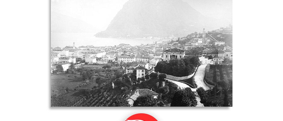 Lugano e monte S. Salvatore anno 1875 c.a.