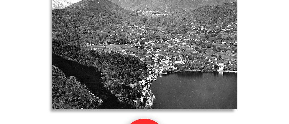 Caslano panorama anno 1958 c.a.
