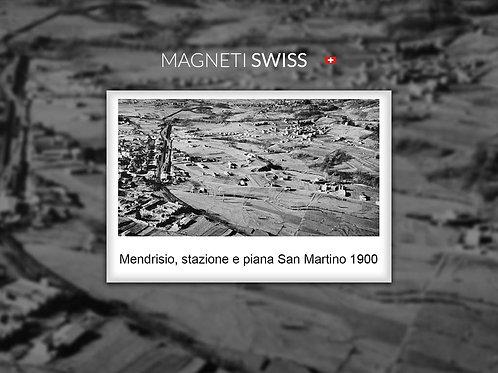 Mendrisio, stazione e piana San Martino 1900