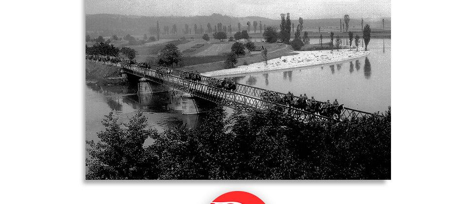 Esercito, attraversamento del ponte anno 1928 c.a.