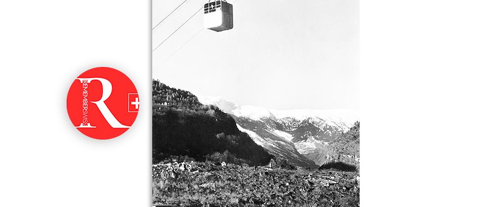 Malvaglia, funivia Orino - Ponterio anno 1950 c.a.