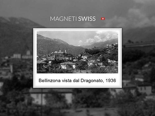 Bellinzona vista dal Dragonato, 1936