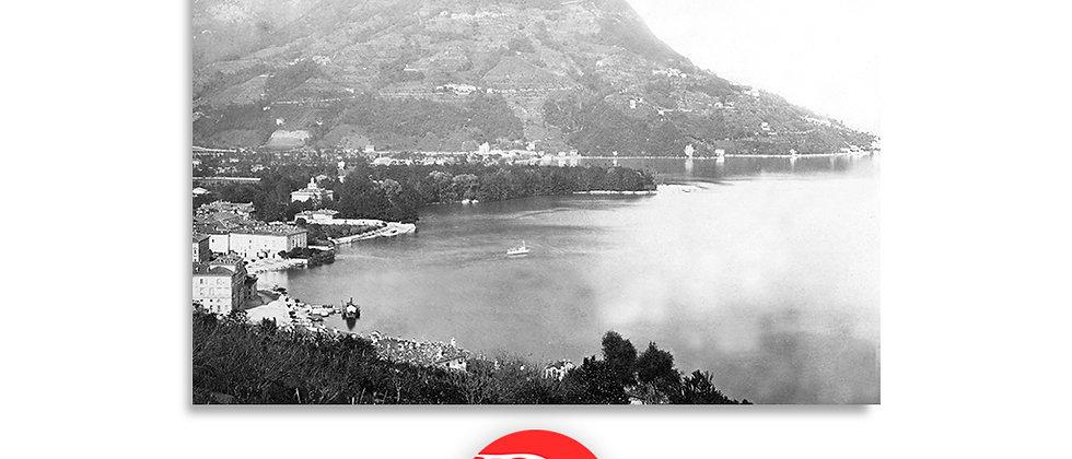Lugano e monte Brè anno 1875 c.a.