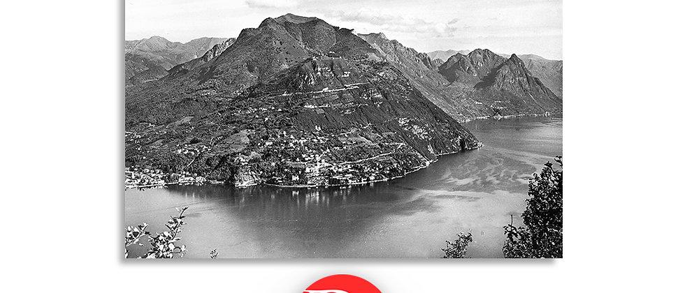 Lugano, lago e monte Brè anno 1910 c.a.