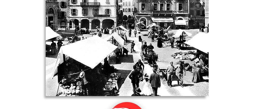 Lugano piazza Riforma anno 1895 c.a.