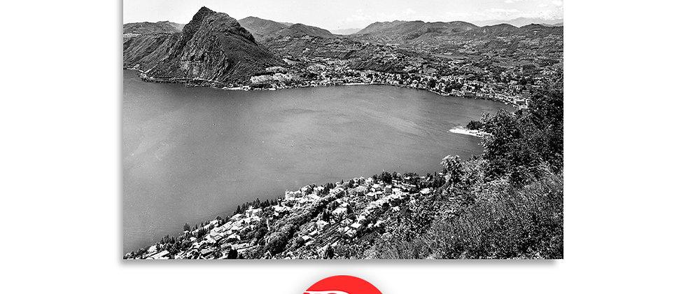 Lugano vista dal monte Brè anno 1945 c.a.