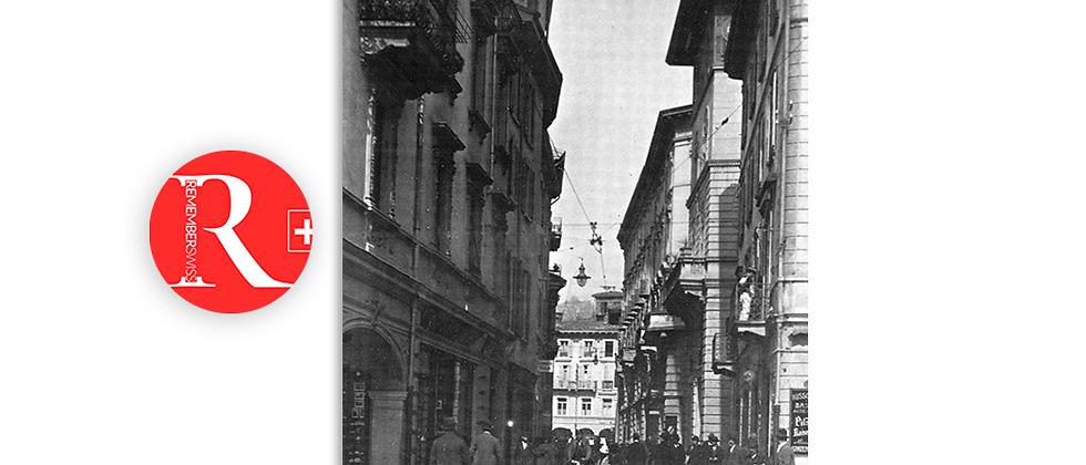Lugano via Luini anno 1920 c.a.