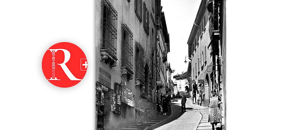 Lugano via Cattedrale anno 1940 c.a.