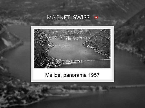 Melide, panorama 1957