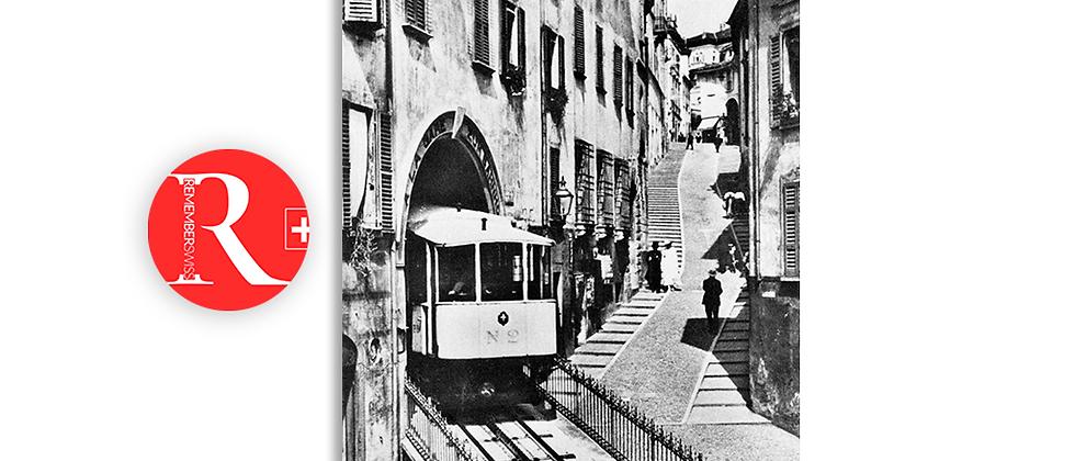 Lugano funicolare via Cattedrale anno 1930 c.a.