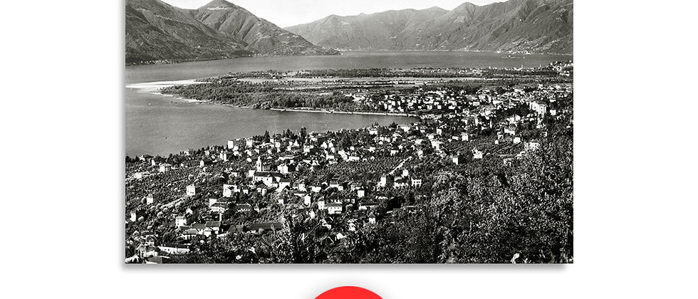 Minusio panorama anno 1951 c.a.