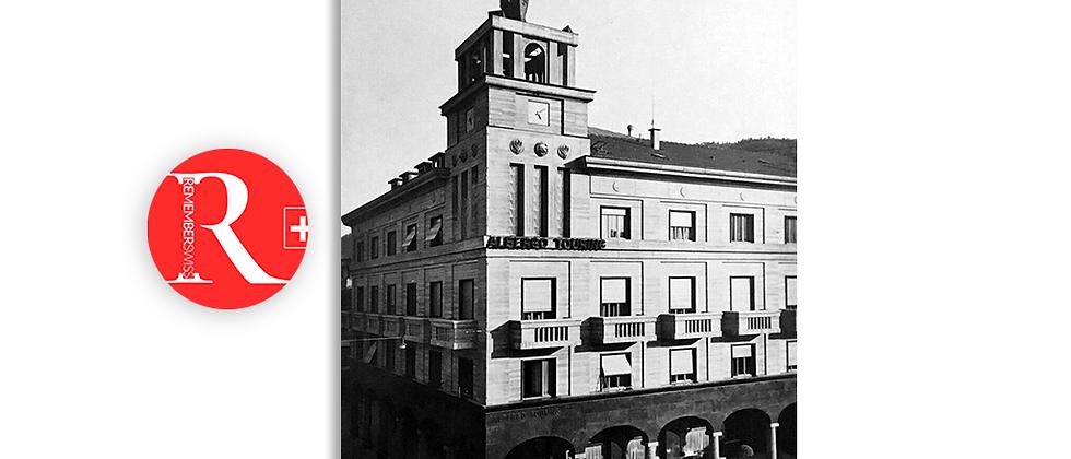 Chiasso palazzo Chiesa anno 1940 c.a.
