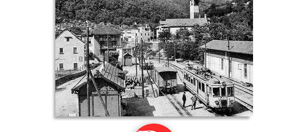 Bignasco e ferrovia Valle Maggia anno 1907 c.a.