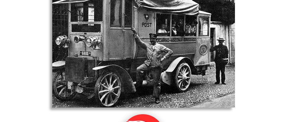 Autopostale Locarno - Ascona primi '900