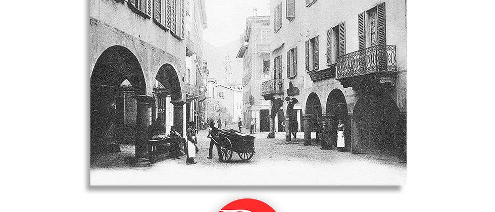 Lugano via Canova anno 1906 c.a.