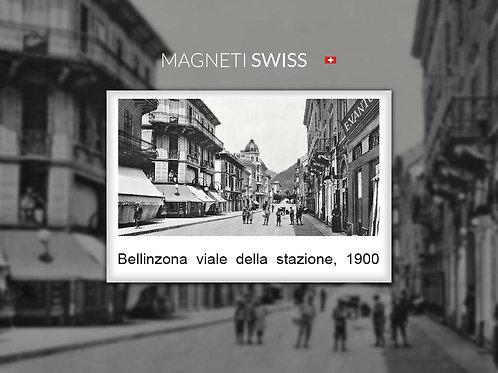 Bellinzona viale della stazione, 1900
