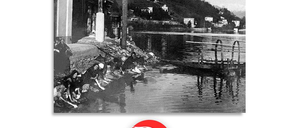 Ponte Tresa lavandaie al lago anno 1930 c.a.