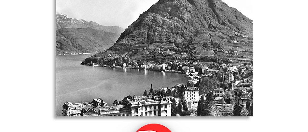 Lugano Paradiso e monte S.Salvatore anno 1950 c.a.