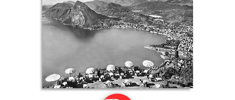 Lugano veduta dal monte Brè anno 1950 c.a.