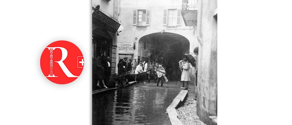 Ponte Tresa alluvione anno 1951