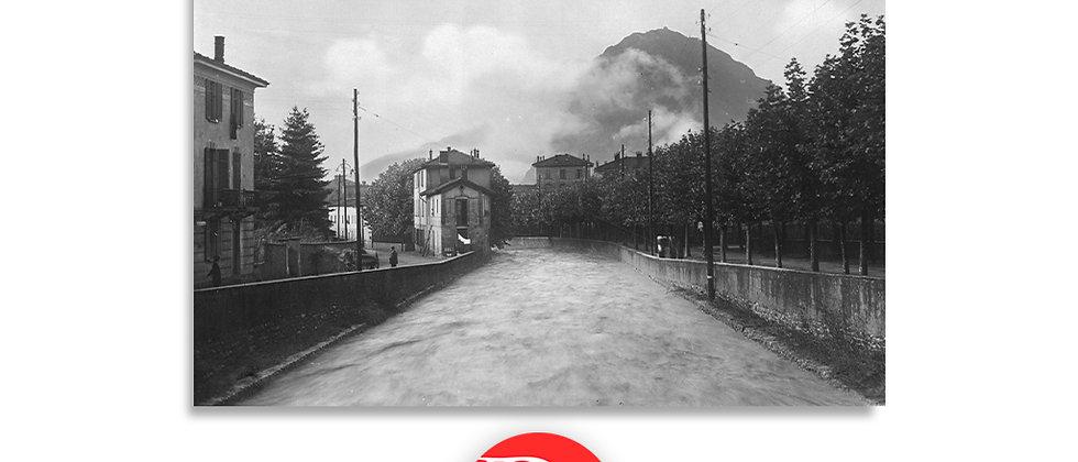 Lugano fiume Cassarate anno 1939 c.a.