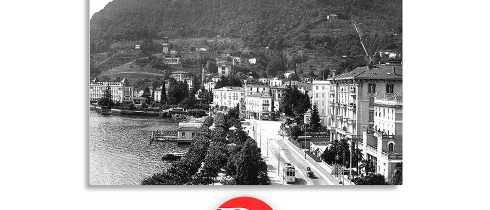 Lugano Paradiso e tram anno 1940 c.a.