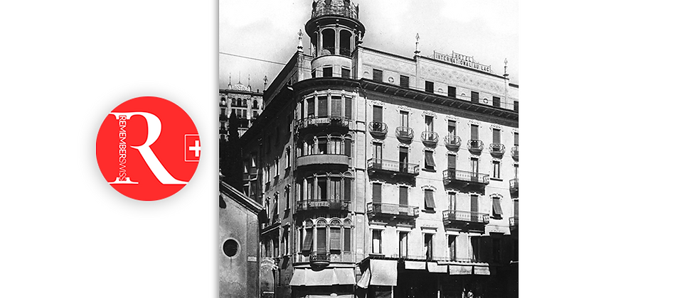 Lugano Hotel International Au Lac anno 1920 c.a.