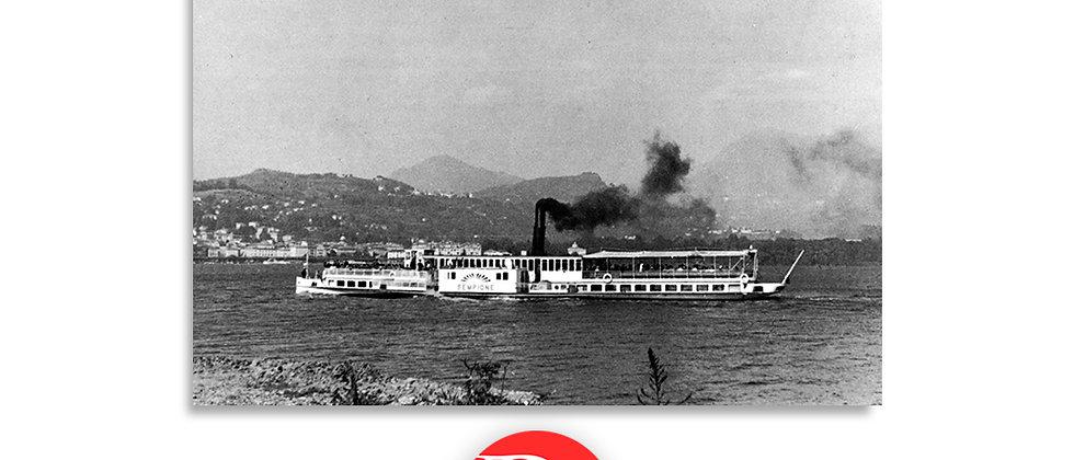 Lugano lago e battello Sempione primi '900