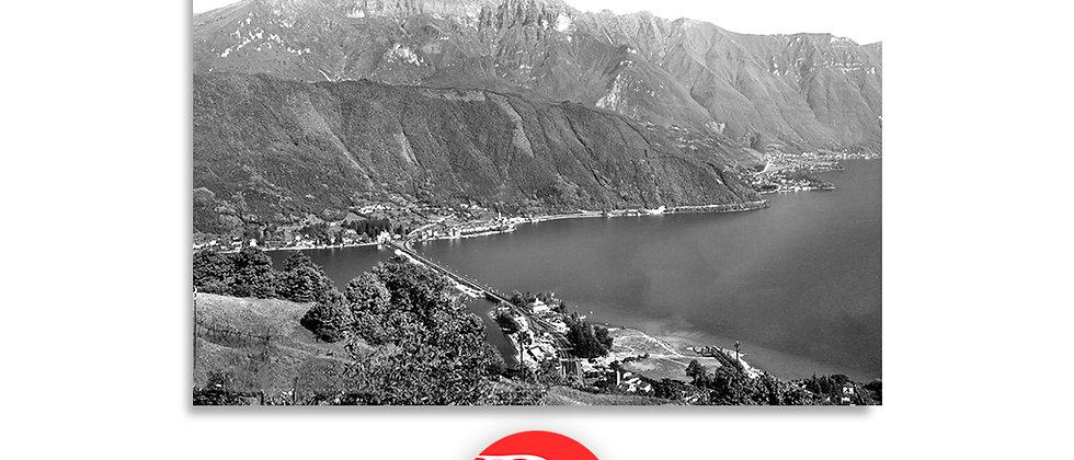 Melide vista Bissone Maroggia Melano anno 1955 c.a.