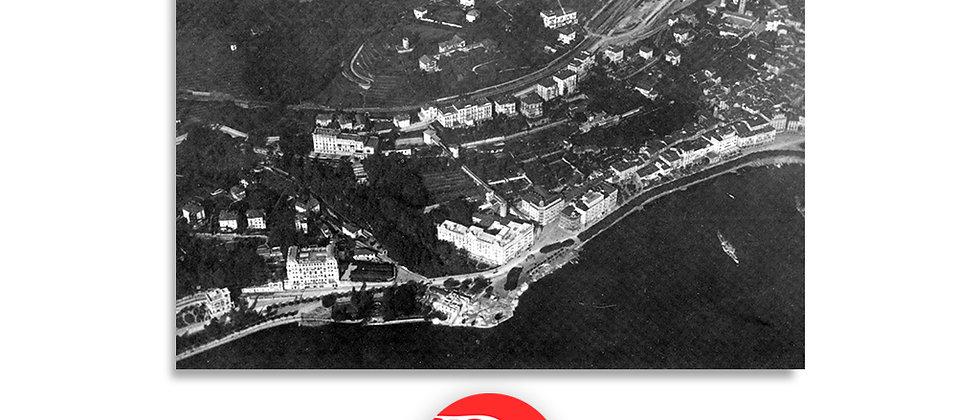 Prima foto aerea di Lugano primi '900