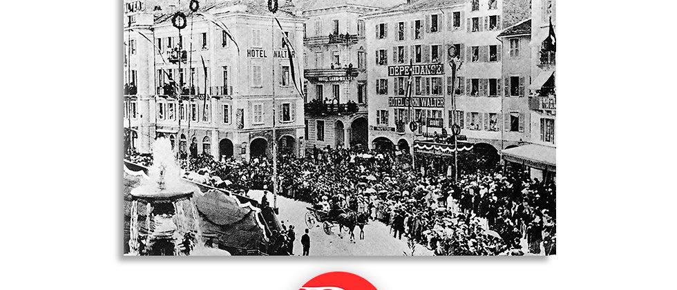 Lugano festa dei fiori fine '800
