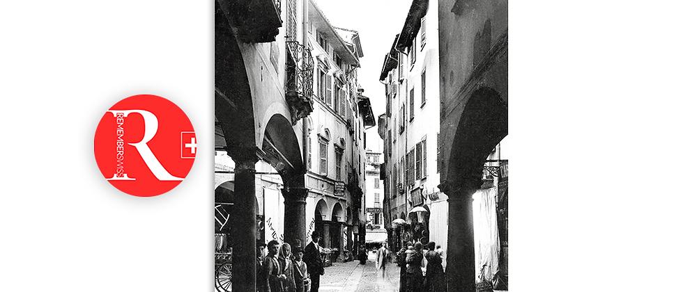 Lugano via Nassa anno 1890 c.a.