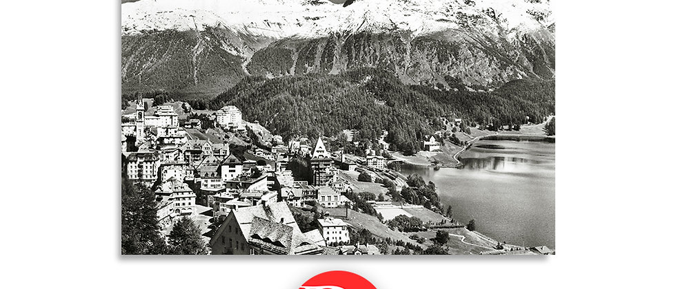 St.Moritz panorama anno 1950 c.a.