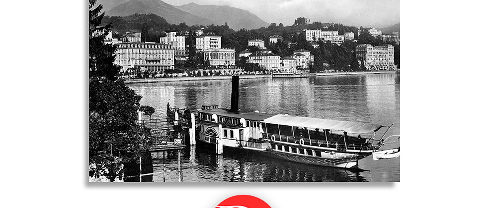 Lugano il Quai e battello anno 1935 c.a.